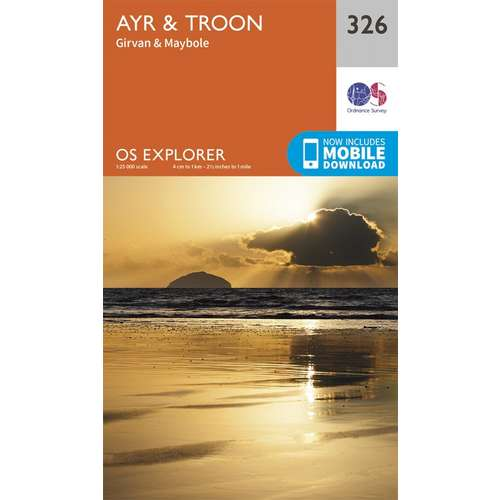 Explorer 326 1:25000 Ayr & Troon, South Ayrshire