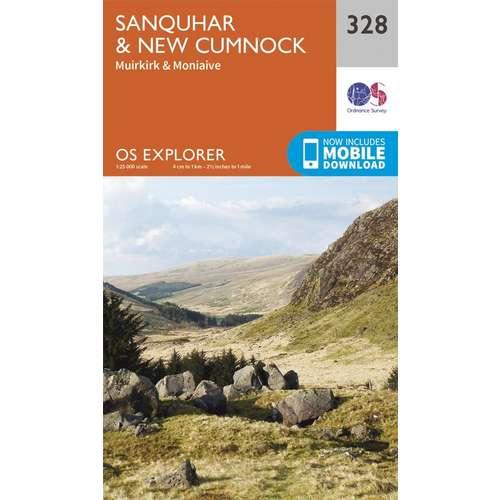 Explorer 328 1:25000 Sanquhar & New Cumnock, Dumfries & Galloway