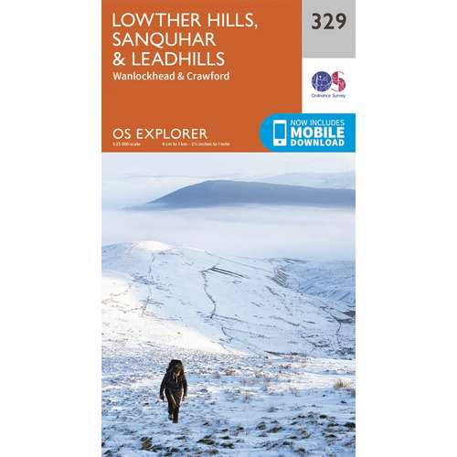 Explorer 329 1:25000 Lowther Hills, Sanquhar & Leadhills, Dumfries & Galloway