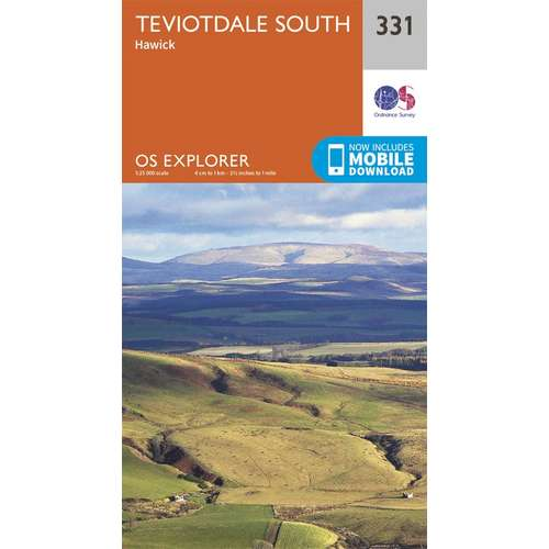 Explorer 331 1:25000 Teviotdale South, Scottish Borders