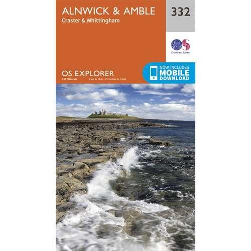 Explorer 332 1:25000 Alnwick & Amble, Northumberland