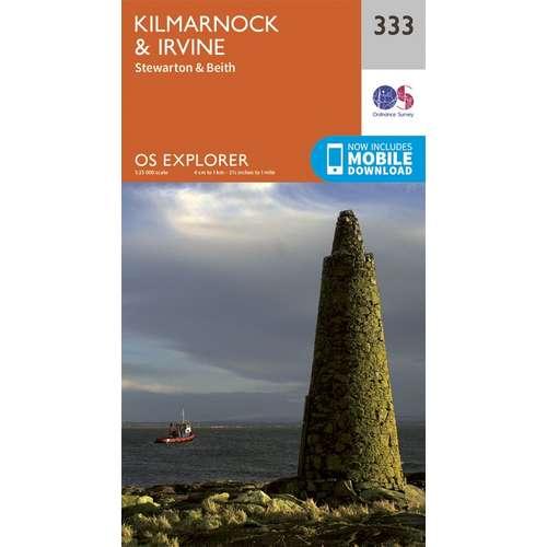Explorer 333 1:25000 Kilmarnock & Irvine, East Ayrshire