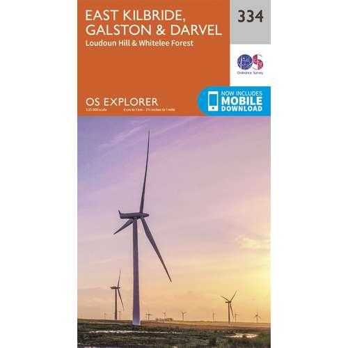Explorer 334 1:25000 East Kilbride, Galston & Darvel, South Lanarkshire