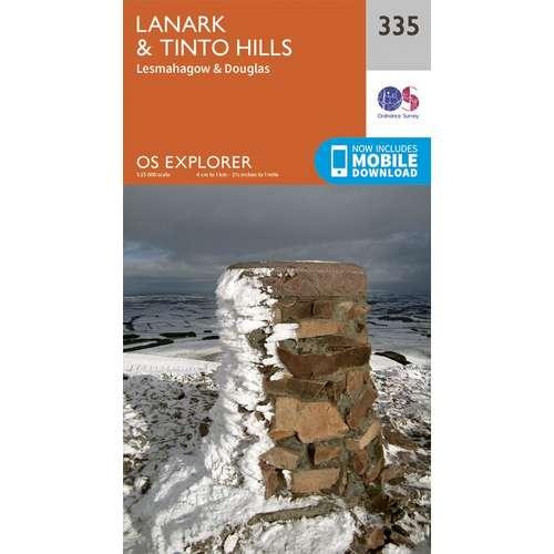Explorer 335 1:25000 Lanark & Tinto Hills, South Lanarkshire
