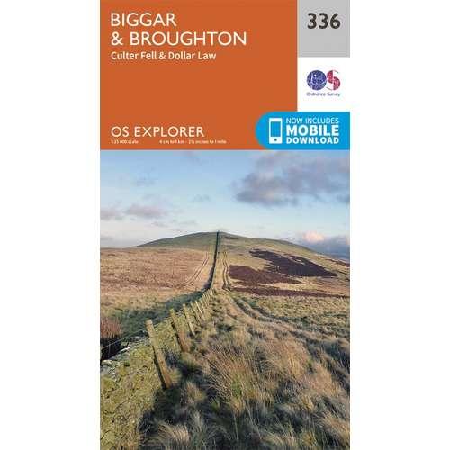 Explorer 336 1:25000 Biggar & Broughton, South Lanarkshire