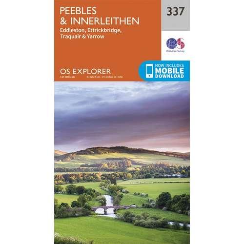 Explorer 337 1:25000 Peebles & Interleithen, Scottish Borders