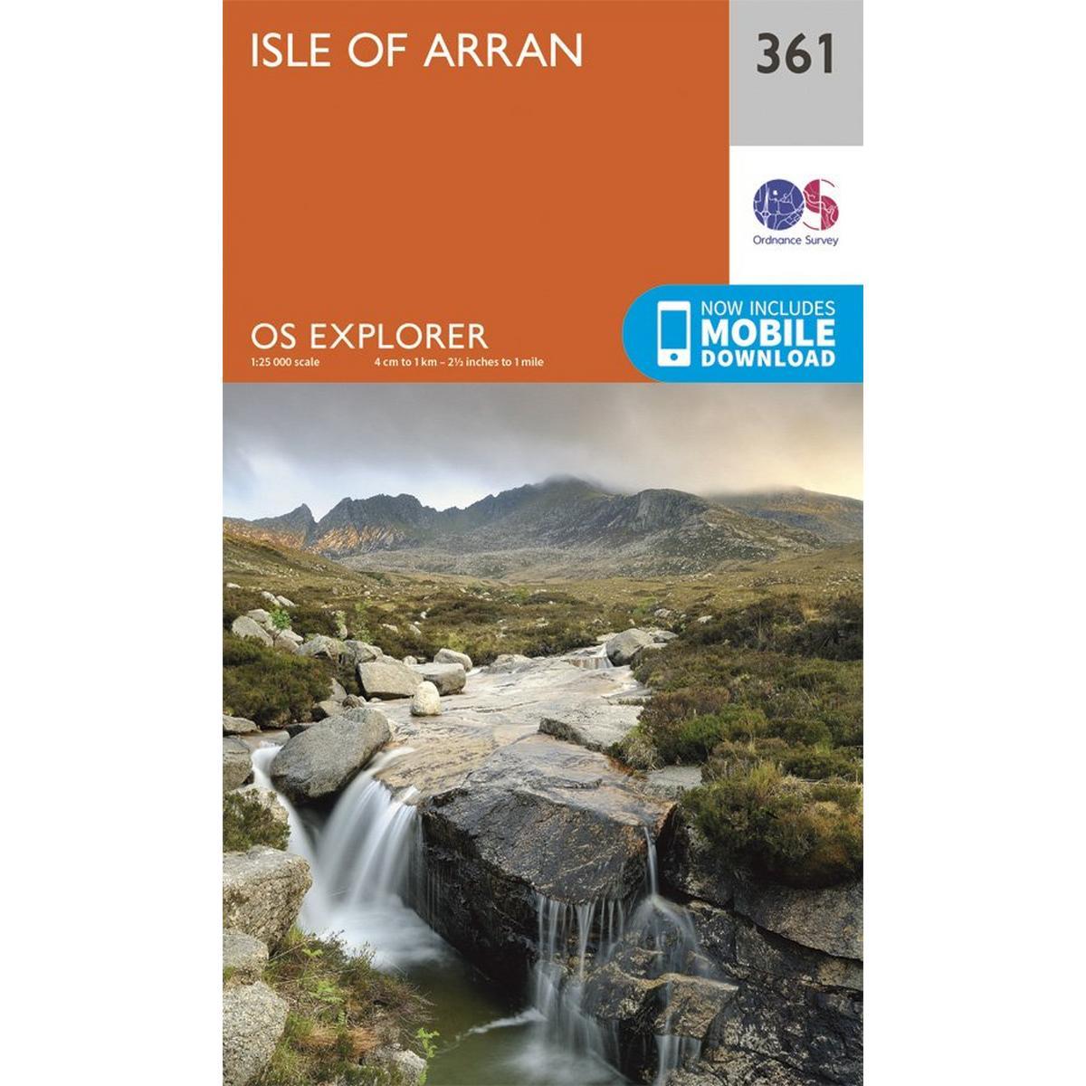 Ordnance Survey OS Explorer Map 361 Isle of Arran