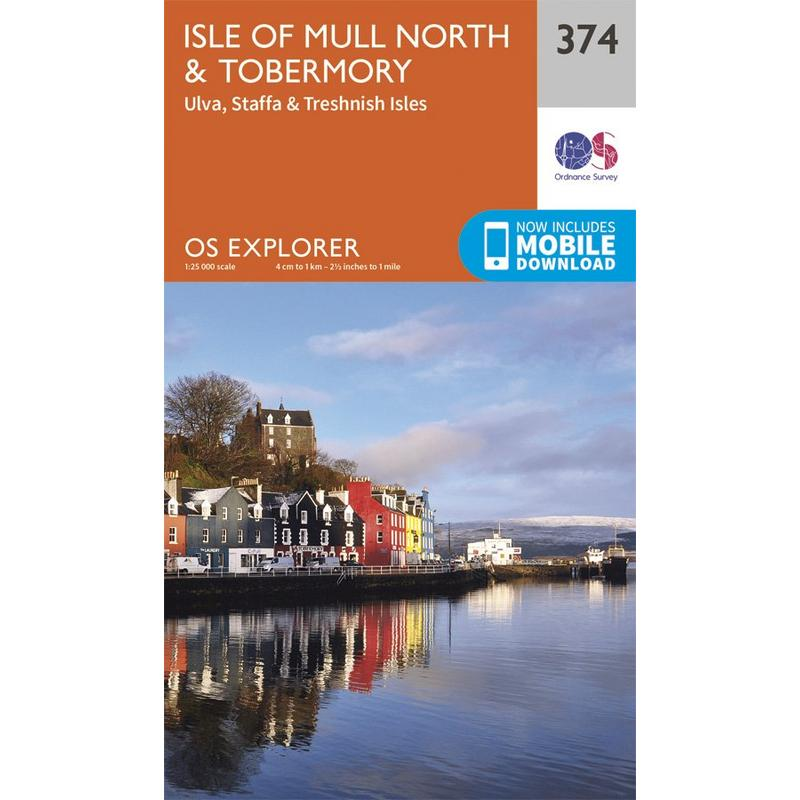 OS Explorer Map 374 Isle of Mull North and Tobermory