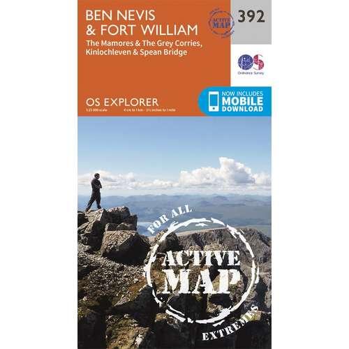 Explorer Active Laminate 392 Ben Nevis & Fort William