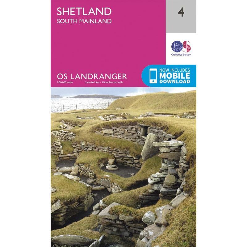 OS Landranger Map 04 Shetland - South Mainland