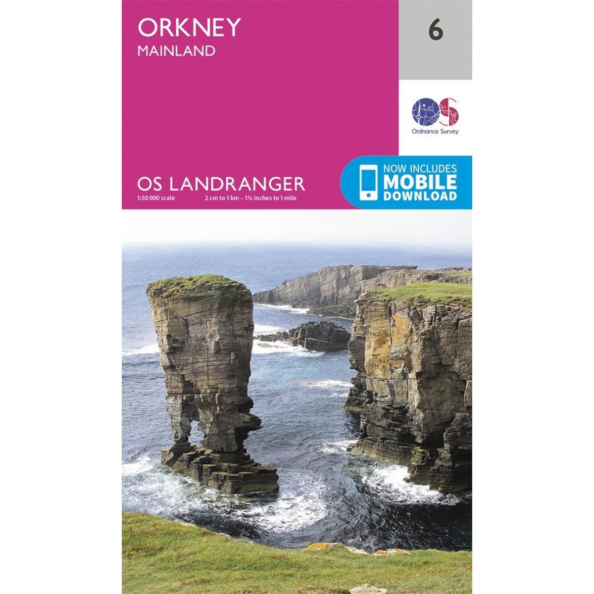 Ordnance Survey OS Landranger Map 06 Orkney - Mainland