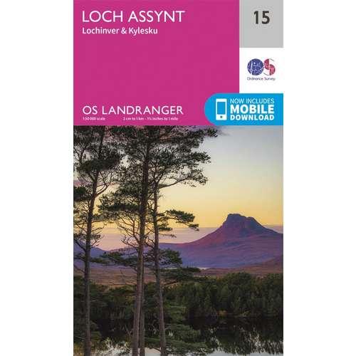 Landranger 15 1:50000 Loch Assynt