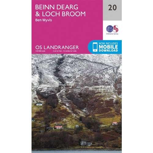 Landranger 20 1:50000 Beinn Dearg & Loch Broom