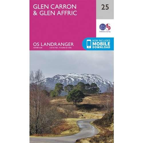 Landranger 25 1:50000 Glen Carron & Glen Affric