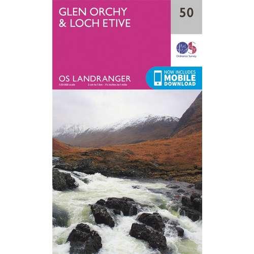 Landranger 50 1:50000 Glen Orchy & Loch Etive