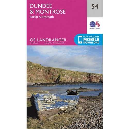 Landranger 54 1:50000 Dundee & Montrose