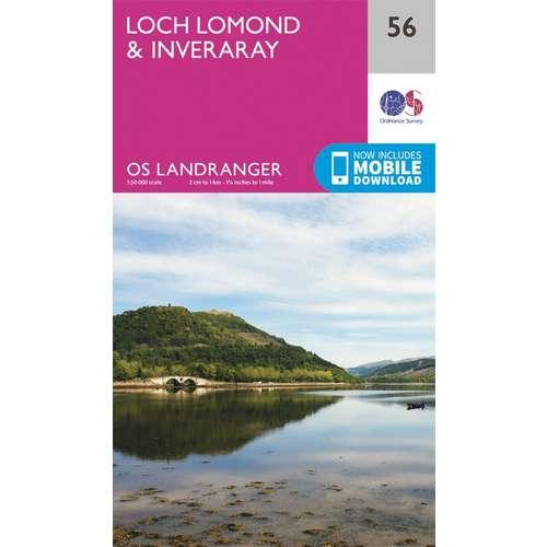 Landranger 56 1:50000 Loch Lomond & Inveraray