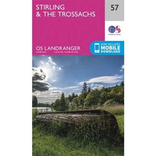 Landranger 57 1:50000 Stirling & The Trossachs