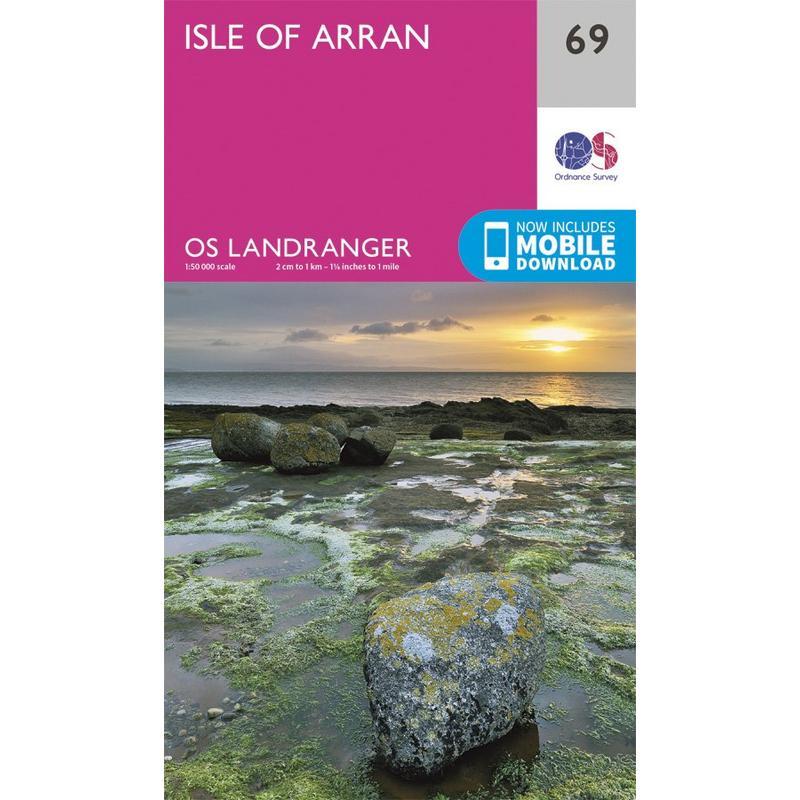 OS Landranger Map 69 Isle of Arran