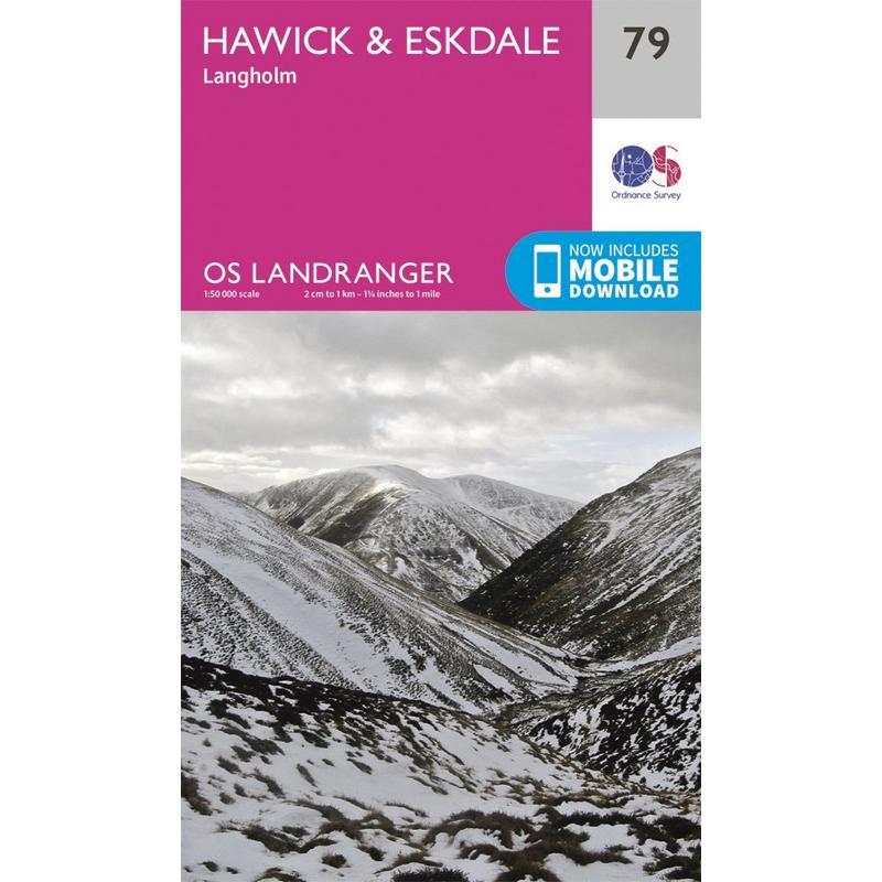 OS Landranger Map 79 Hawick & Eskdale, Langholm