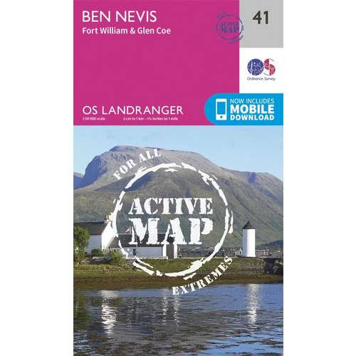 Landranger Active Laminate 41 1:50 000 Ben Nevis