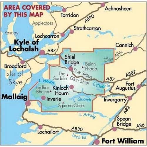 Knoydart Glen Affric BMC Mountain Map
