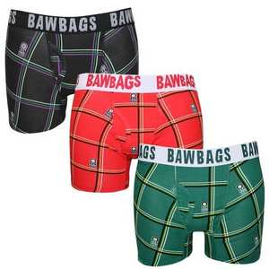 Men's Cotton Boxers 3 Pack Tartan
