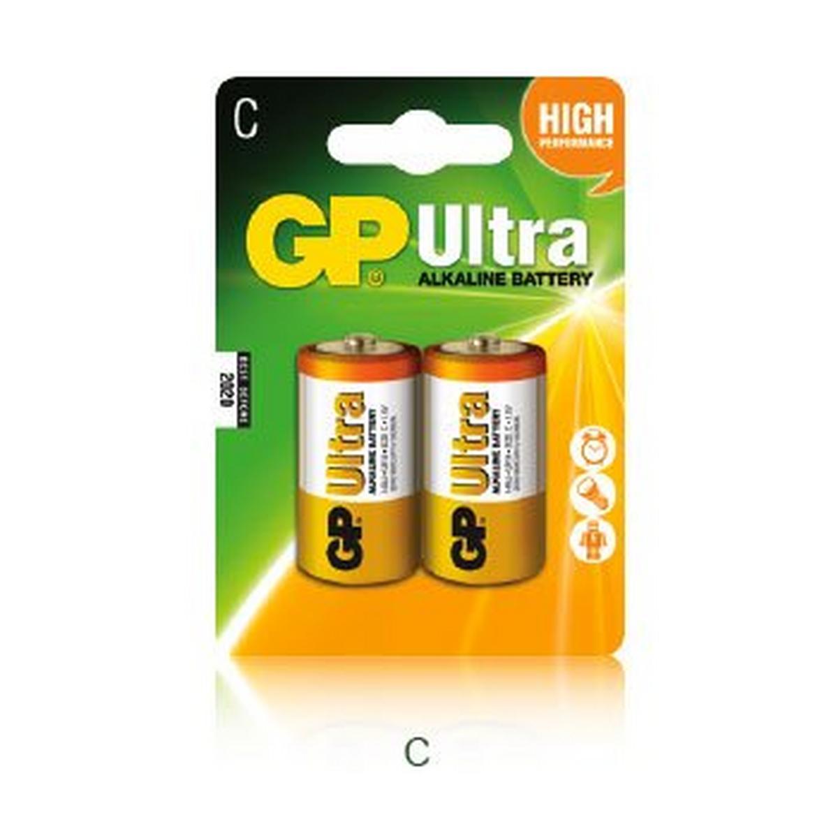 Gp Batteries Ultra Alkaline C Batteries 2 Pack