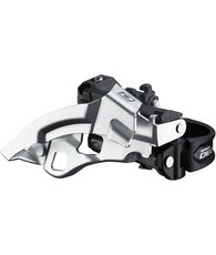 FD-M610 Deore 10-speed triple front derailleur, top swing, dual-pull