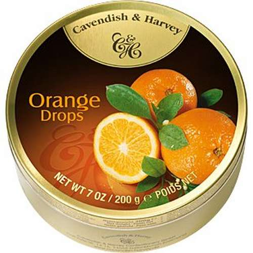 Tin Orange Drops 200g