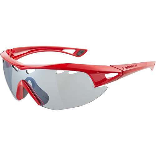 Recon Glasses Red Frame Silver Mirror Lens