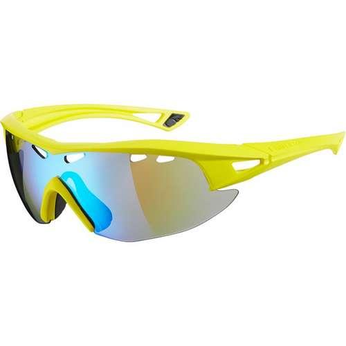 Recon Glasses Matt Yellow Frame Blue Mirror Lens