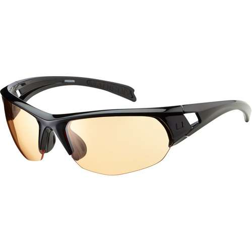 Mission Glasses Gloss Black Frame Amber Lens