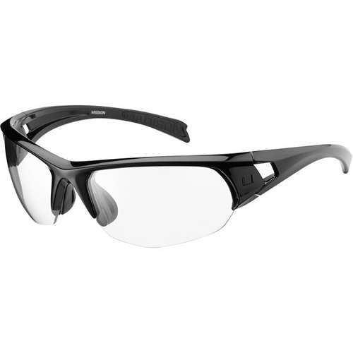 Mission Glasses Gloss Black Frame Clear Lens