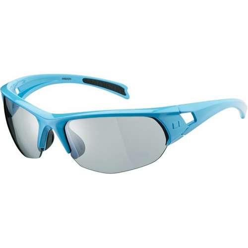 Mission Glasses Gloss Sky Blue Frame Vision Silver Mirror Lens