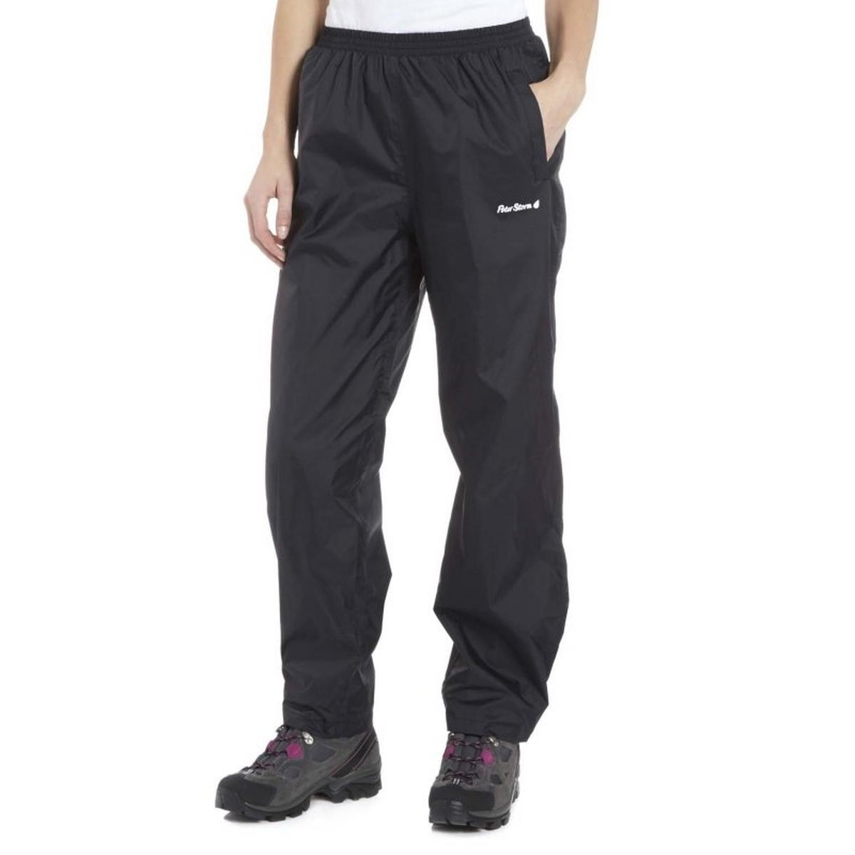 Peter Storm Women's Packable Waterproof Pant - Black