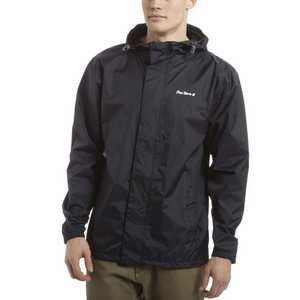 Men's Packable Waterproof Jacket - Black