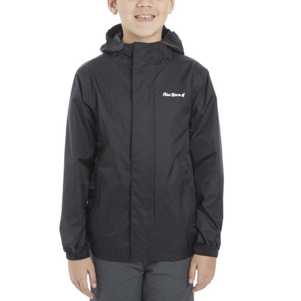 Peter Storm Kids Packable Waterproof Jacket - Black