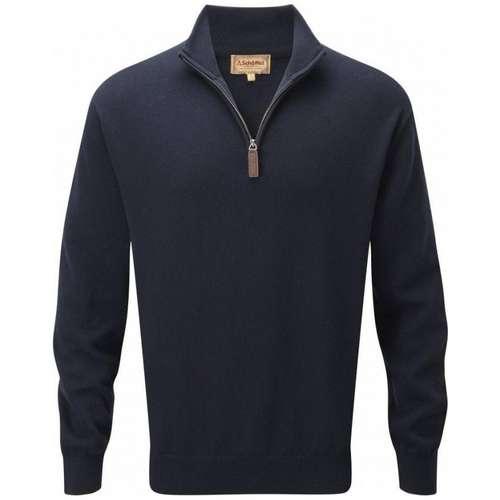 Men's Cashmere/Cotton 1/4 Zip Jumper