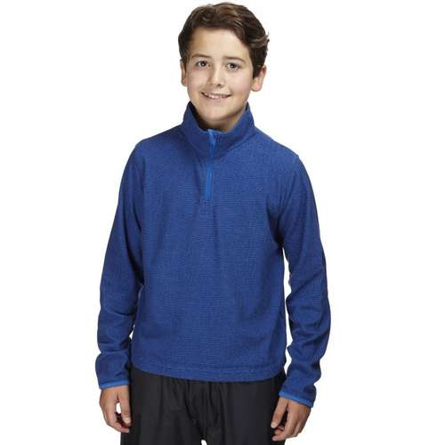 Kids Half Zip Mini Stripe Fleece