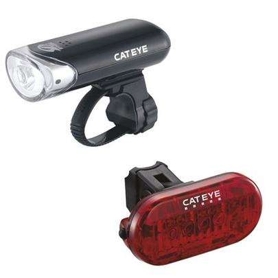 Cateye El135 & Omni 5 Front and Rear Bike Light Set