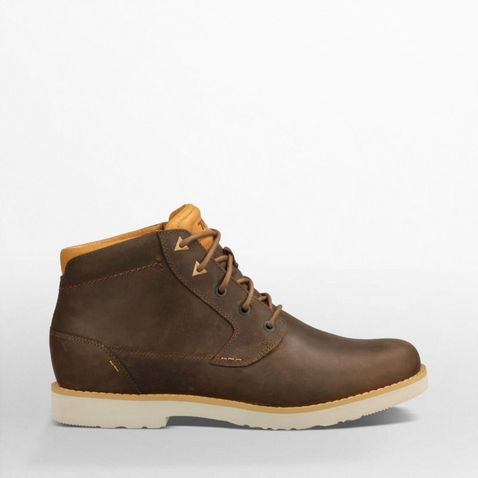 62b779275 Brown Teva Men s Durban Leather Boots
