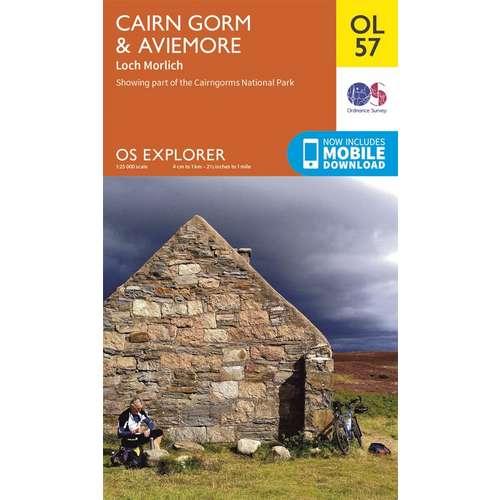Explorer OL57 Cairn Gorm & Aviemore Map