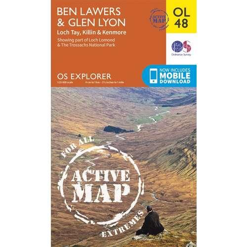 Explorer Active OL48 Active Map Ben Lawers & Glen Lyon