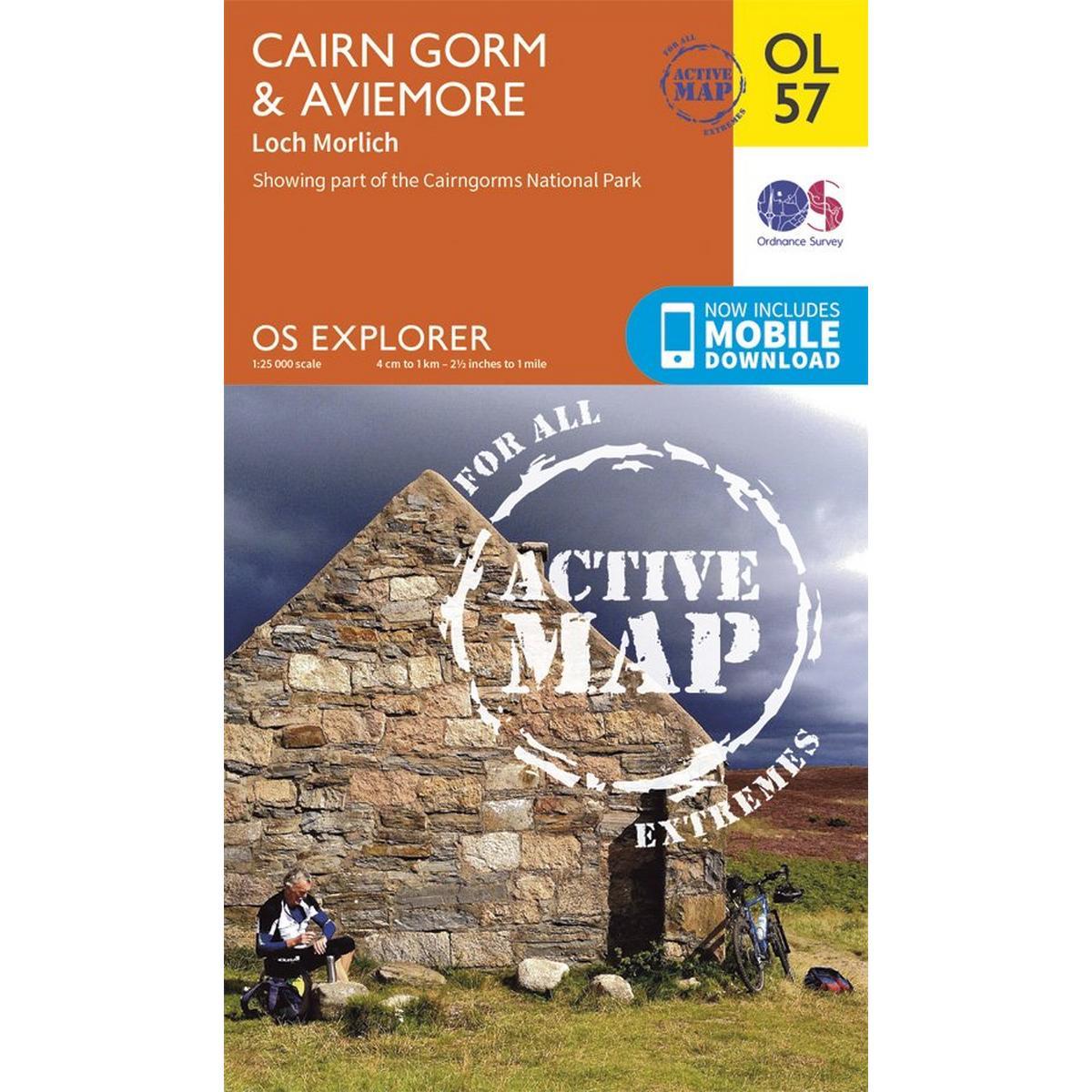 Ordnance Survey OS Explorer ACTIVE Map OL57 Cairn Gorm & Aviemore Laminated