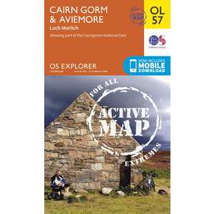 OS Explorer ACTIVE Map OL57 Cairn Gorm & Aviemore Laminated