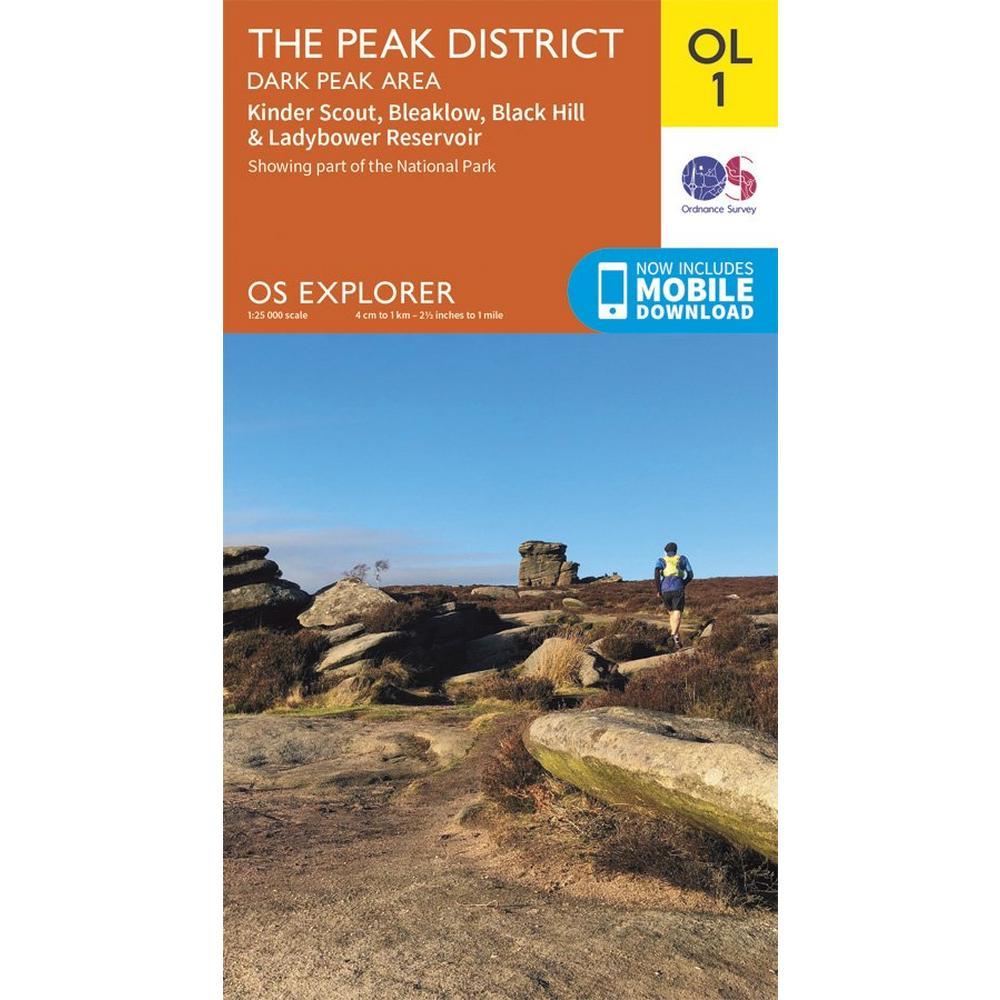 Ordnance Survey OS Explorer Map OL1 The Peak District - Dark Peak