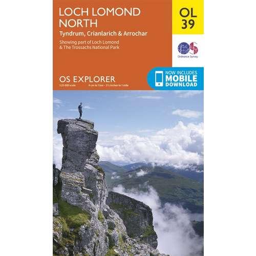 Explorer OL39 Loch Lomond North map