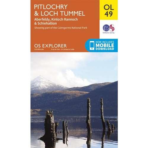 Explorer OL49 Pitlochry & Loch Tummel Map