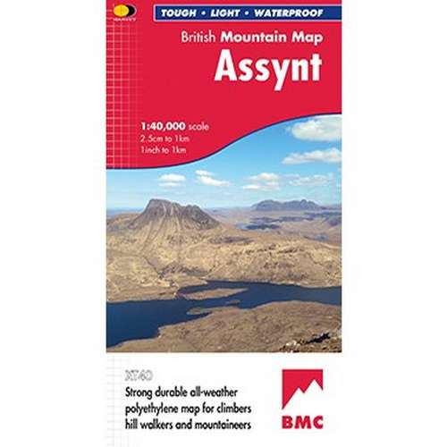 Assynt British Mountain Map
